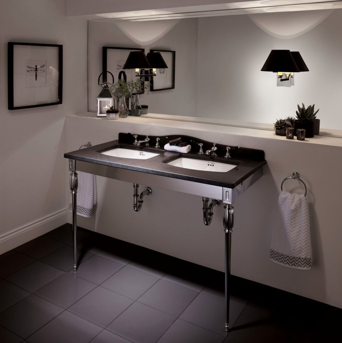 Imperial Troon Marble Console Stand With Radcliffe Basins Uk Bathrooms