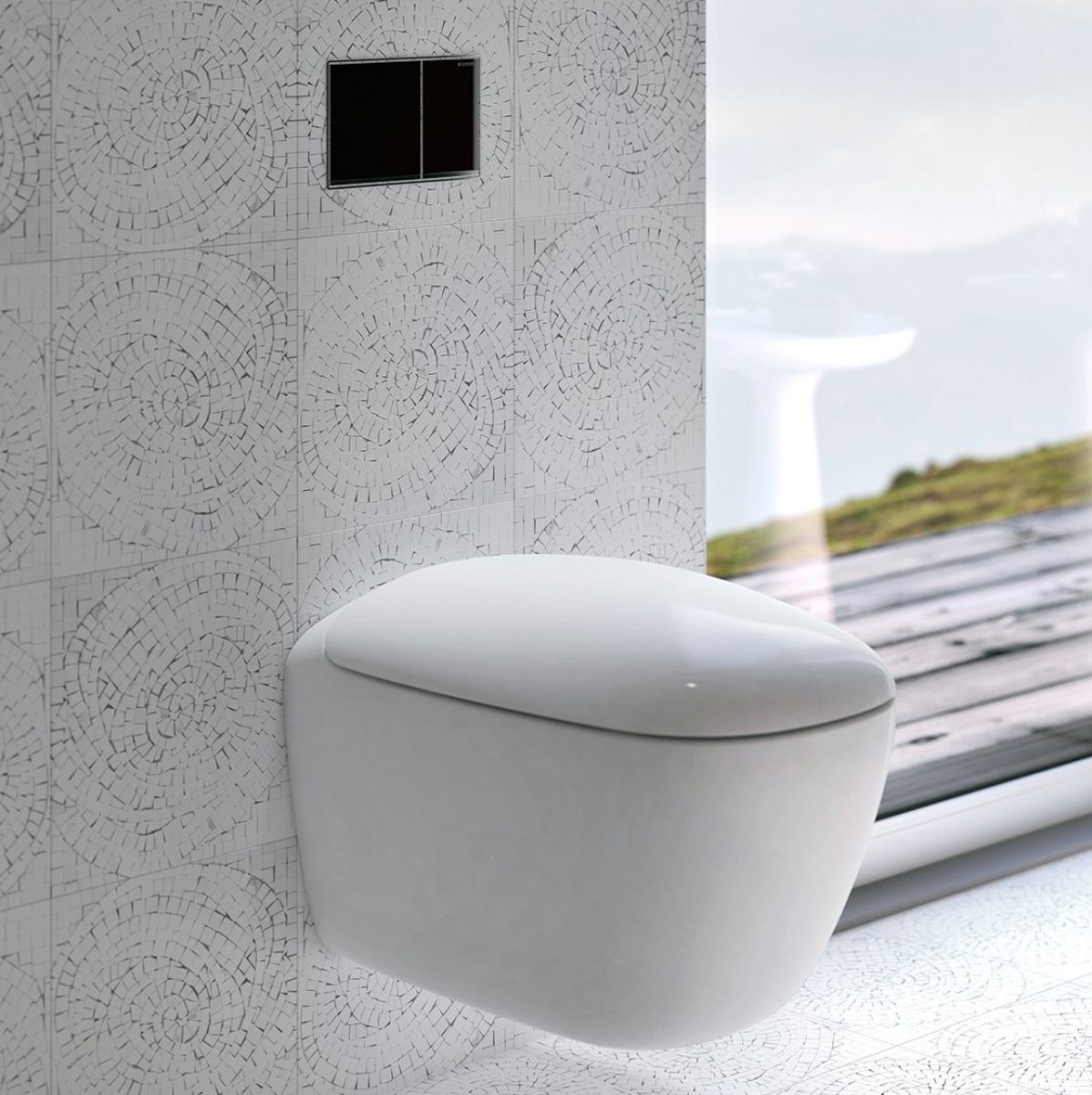 geberit citterio rimfree wall hung toilet uk bathrooms. Black Bedroom Furniture Sets. Home Design Ideas