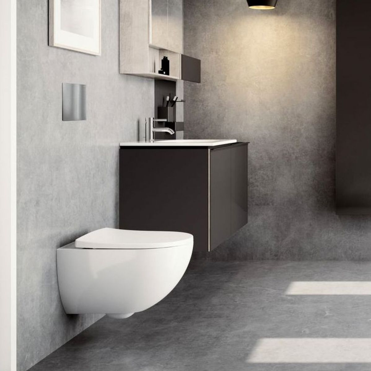 Geberit Acanto Vanity Unit With Slim Rim Washbasin Uk