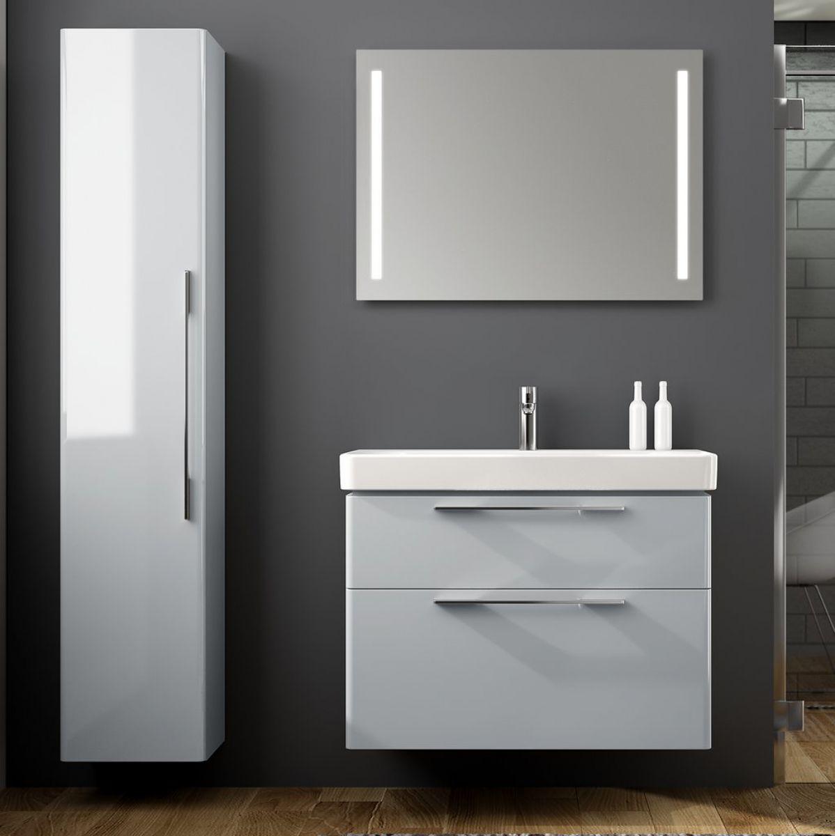 Geberit smyle vanity unit with 2 drawers uk bathrooms for Mirror 750 x 1200
