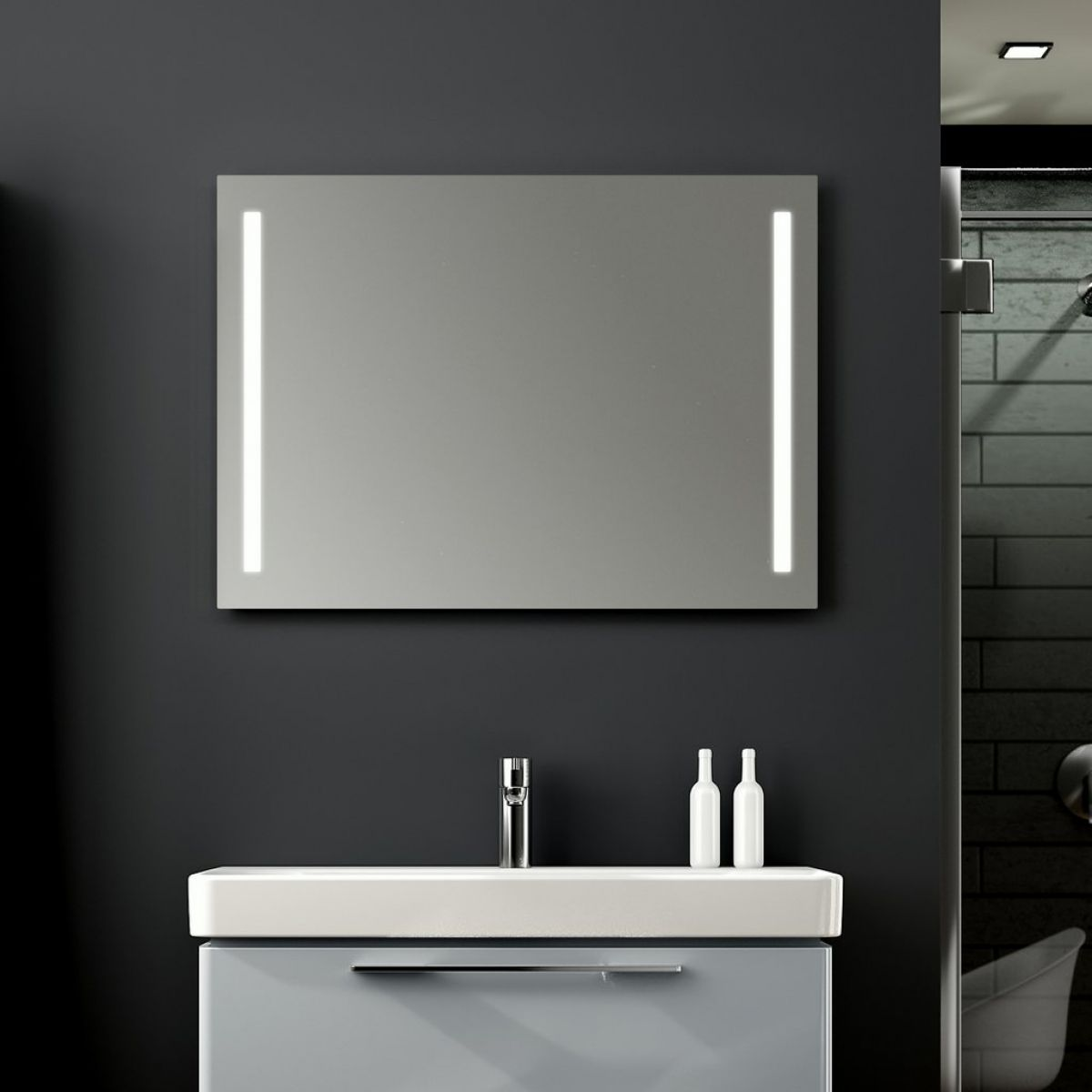 Geberit Option Illuminated Mirror : UK Bathrooms