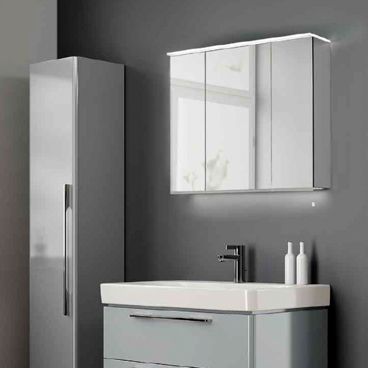 Geberit option plus mirror cabinet uk bathrooms for Bathroom mirror cupboard