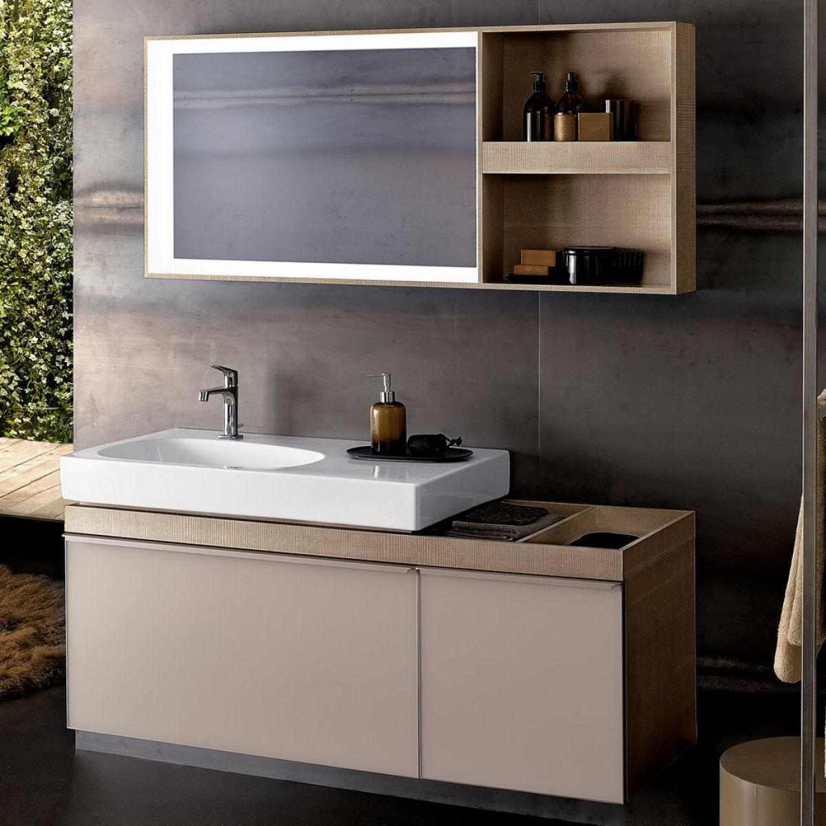 Geberit Citterio Vanity Unit With Two Drawers And