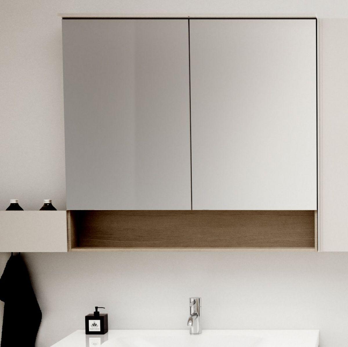 Geberit Acanto Two Door Mirror Cabinet With Lighting