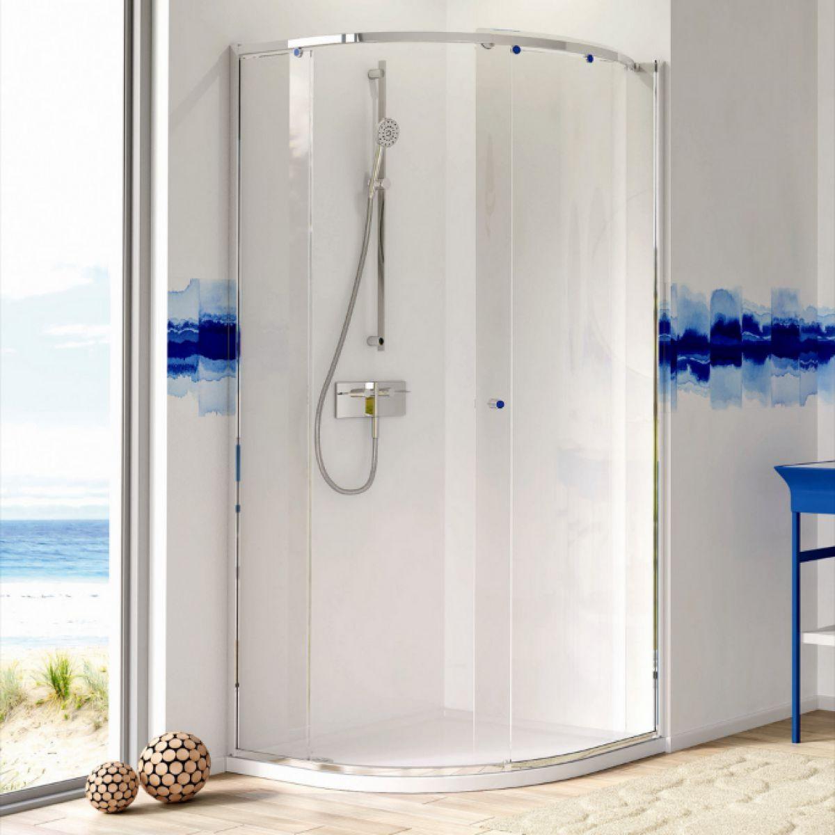 Matki-One Curved Corner Shower Enclosure : UK Bathrooms