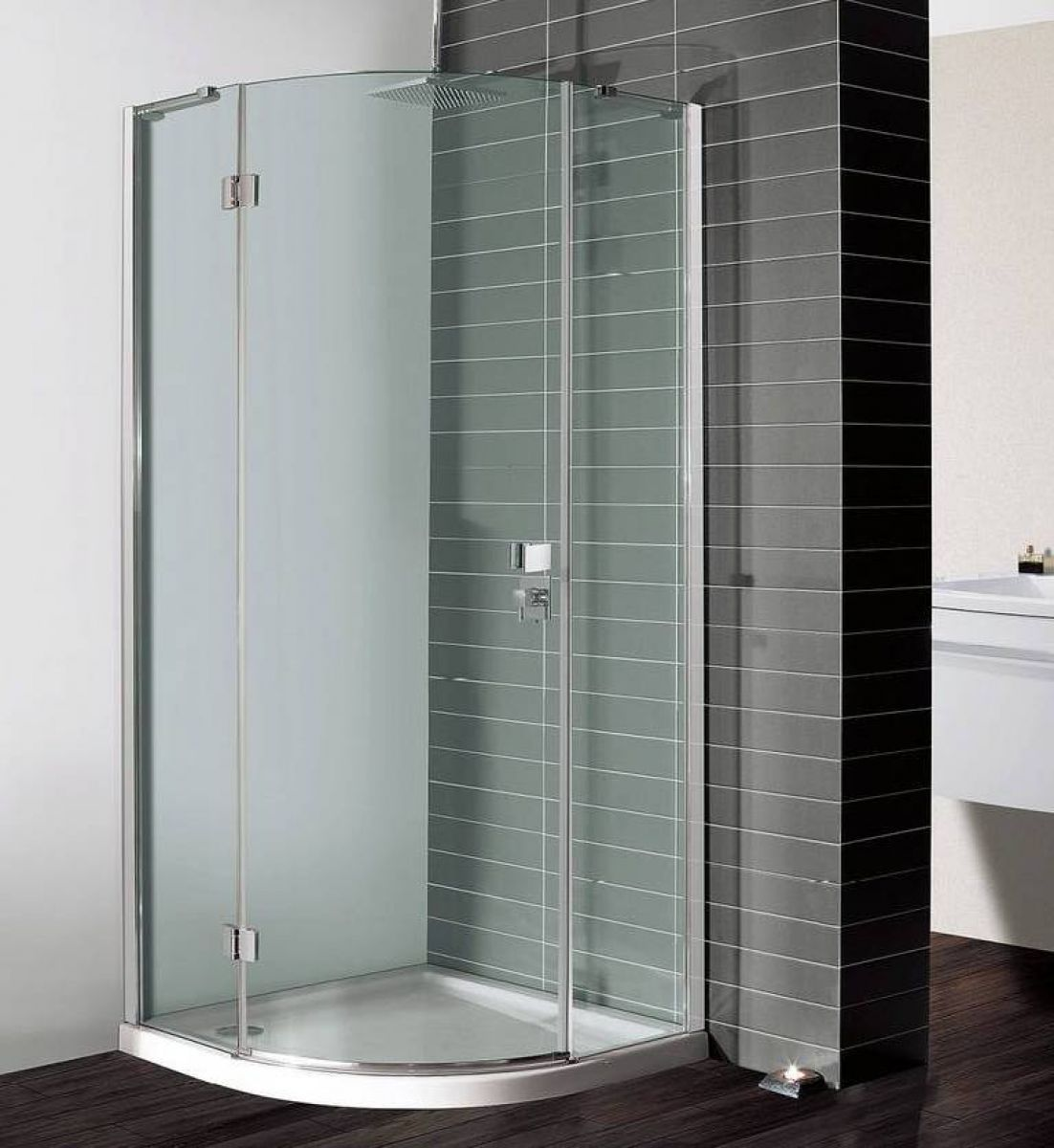 Simpsons design quadrant single hinged shower door uk for Door quadrant