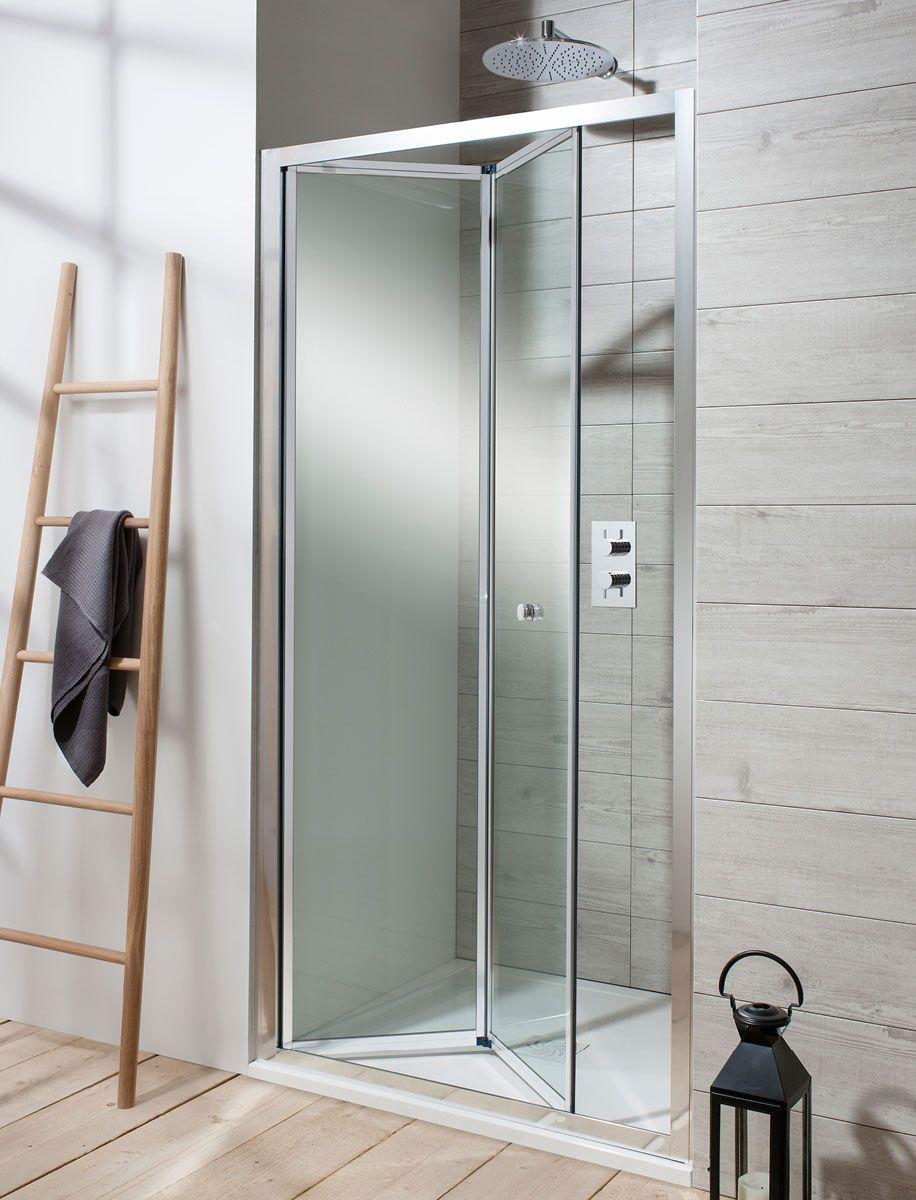 Bi fold shower door will give your bathroom an upscale look bath - Simpsons Edge Bi Fold Shower Door Uk Bathrooms