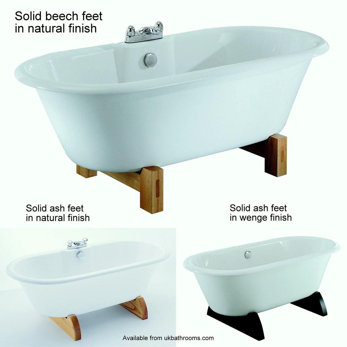 Adamsez Portobello fs Freestanding Roll Top Bath : UK Bathrooms