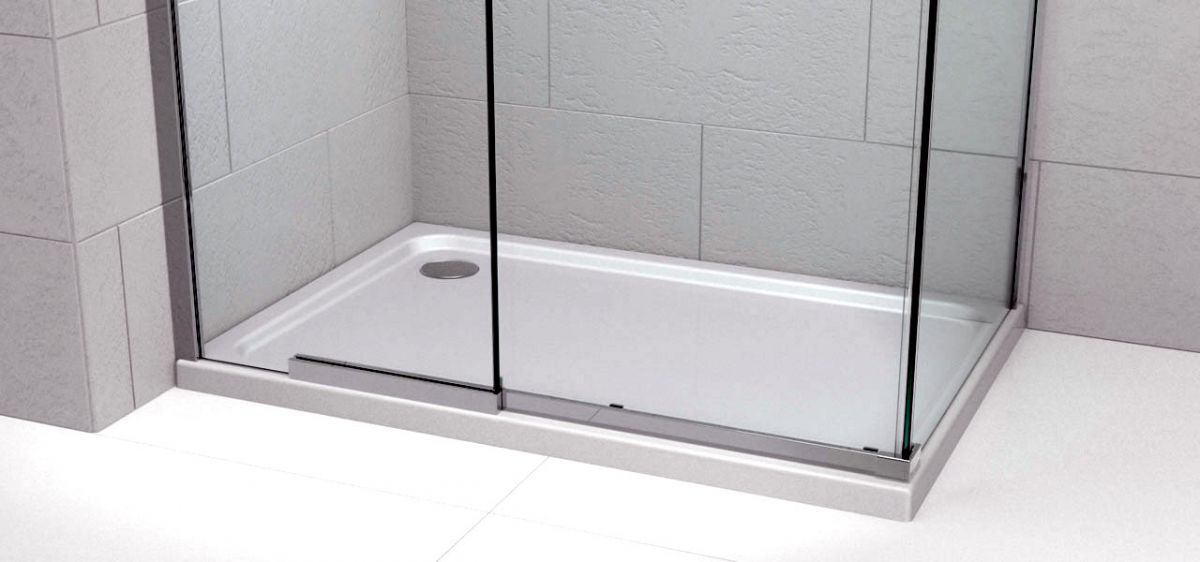 Kudos Kstone 45mm Rectangular Shower Tray : UK Bathrooms