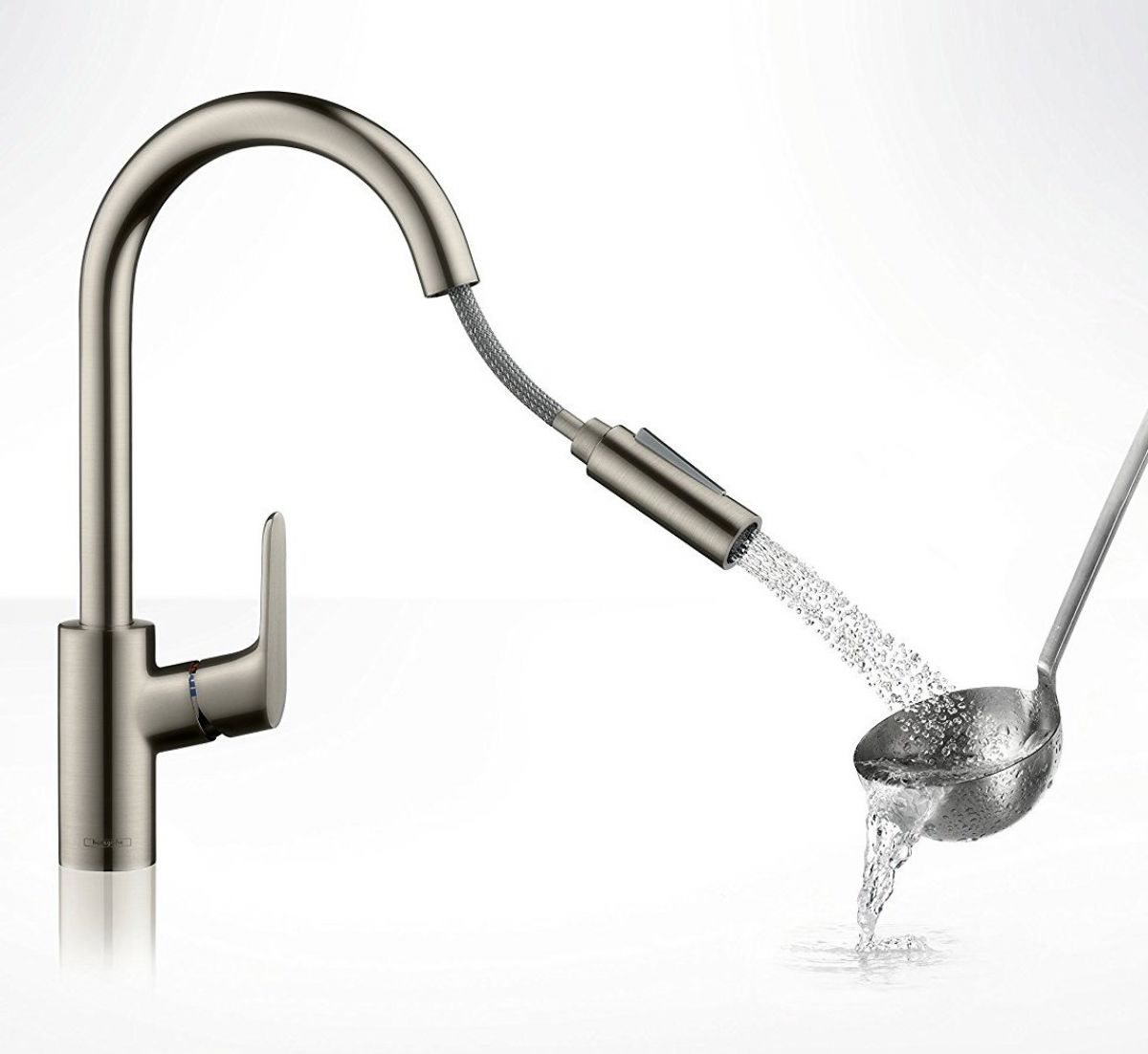 Hansgrohe Focus 240 Kitchen Mixer Tap With Pull Out Spray