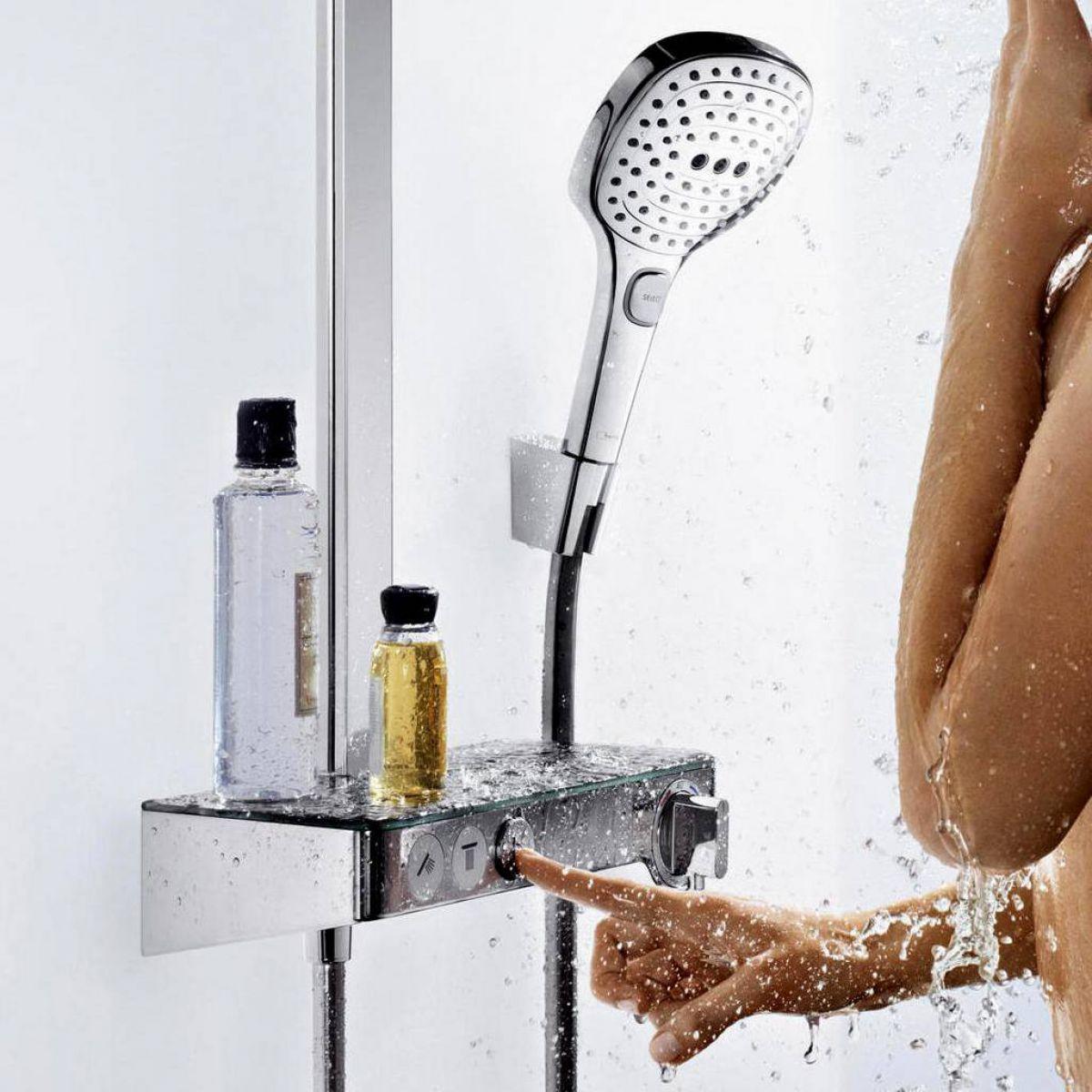hansgrohe raindance select e 300 3jet st showerpipe uk bathrooms. Black Bedroom Furniture Sets. Home Design Ideas