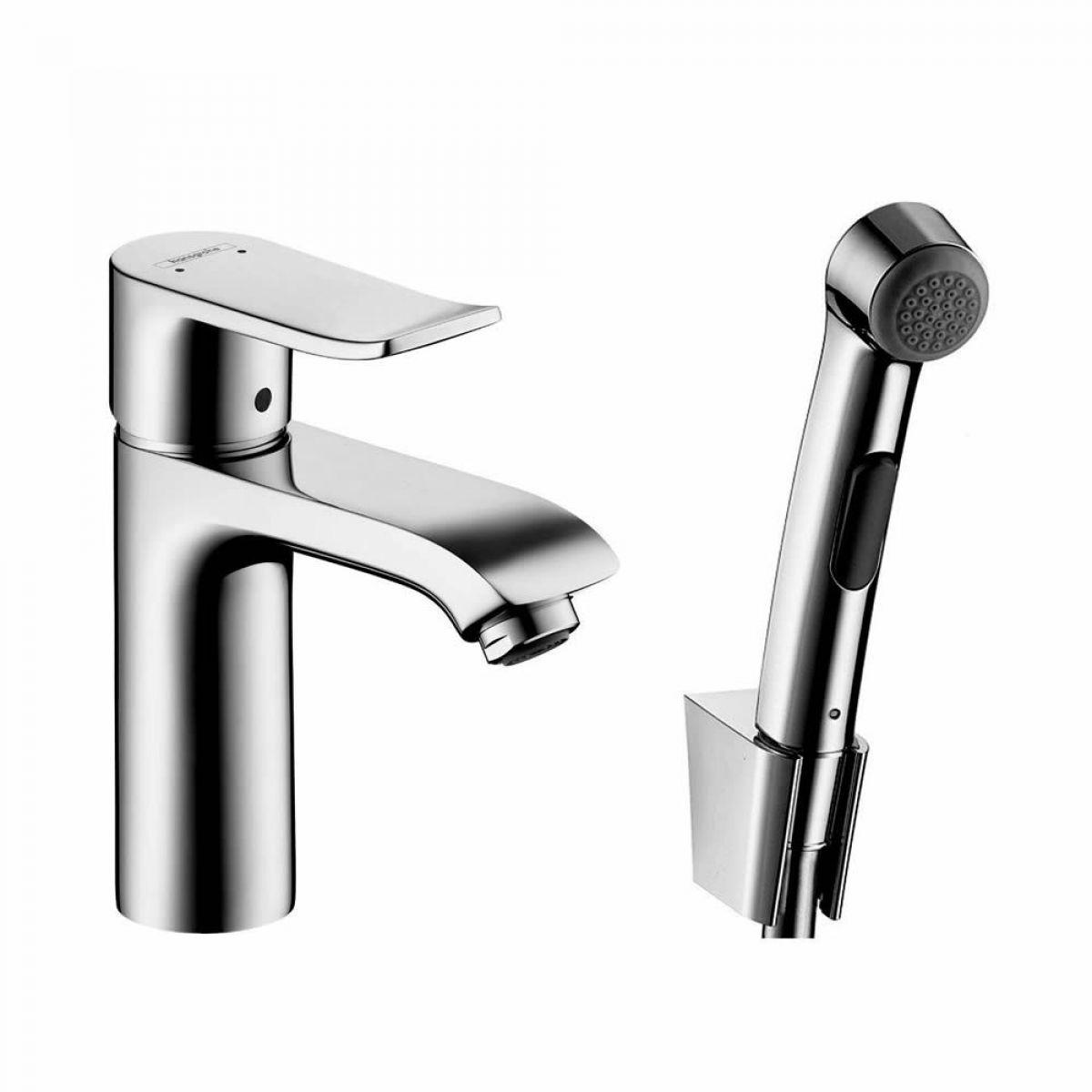 hansgrohe metris bidet mixer tap with 1jet hand shower uk bathrooms. Black Bedroom Furniture Sets. Home Design Ideas