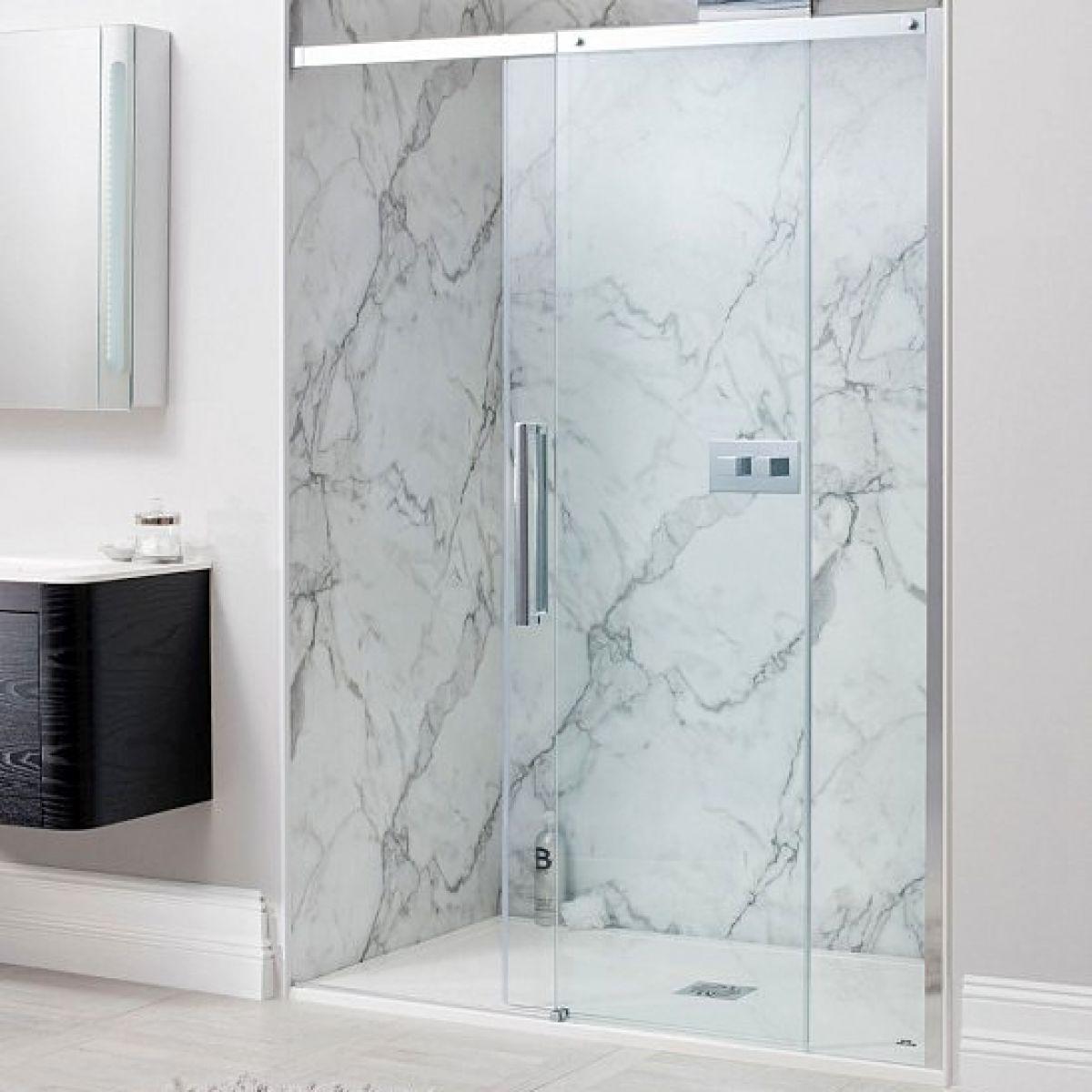 Simpsons Ten Single Slider Shower Door : UK Bathrooms