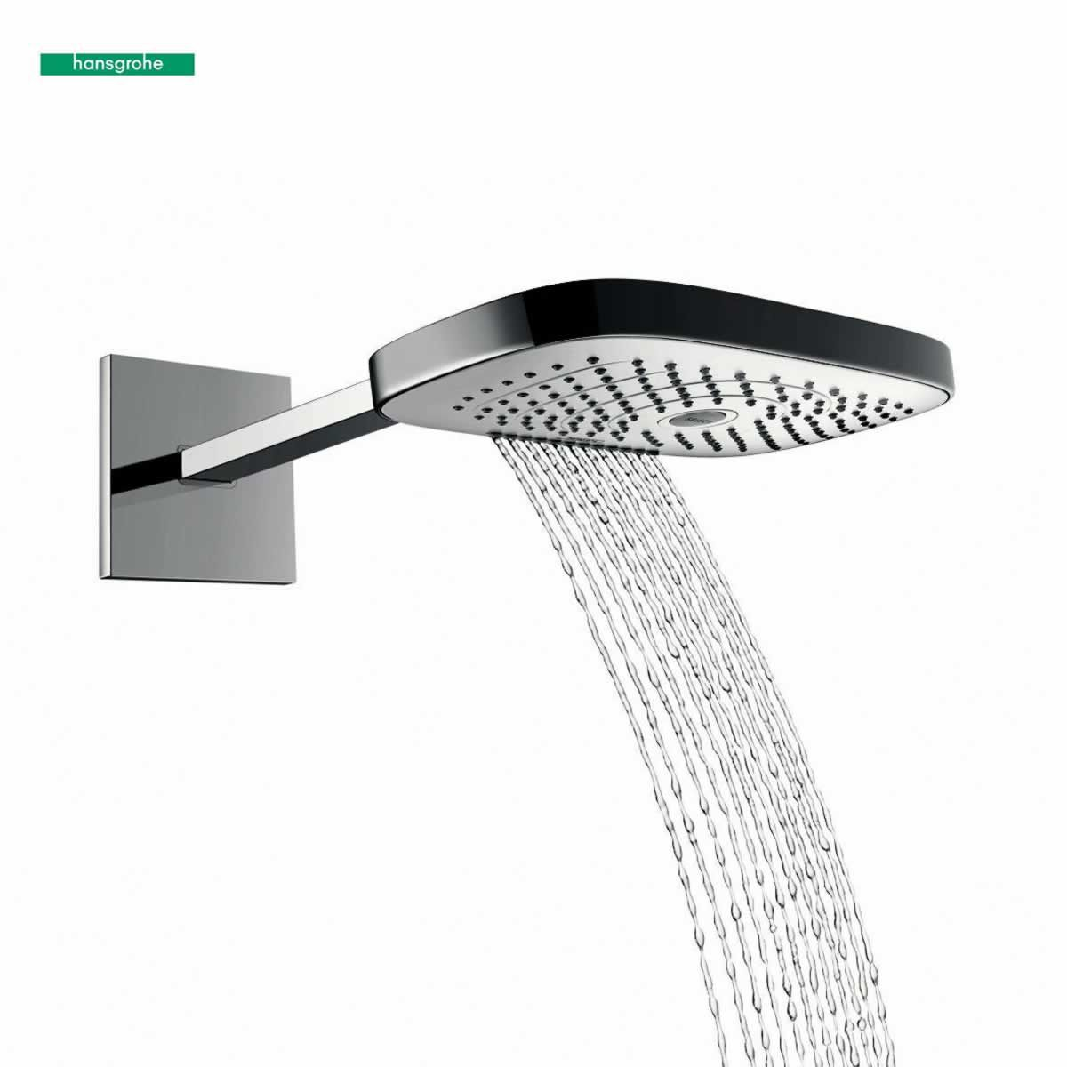 hansgrohe raindance select e 300 3jet overhead shower head uk bathrooms. Black Bedroom Furniture Sets. Home Design Ideas