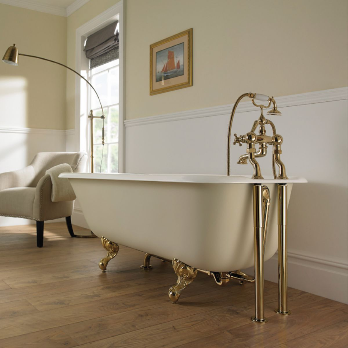 Imperial Waldorf Single Ended Cast Iron Bath : UK Bathrooms