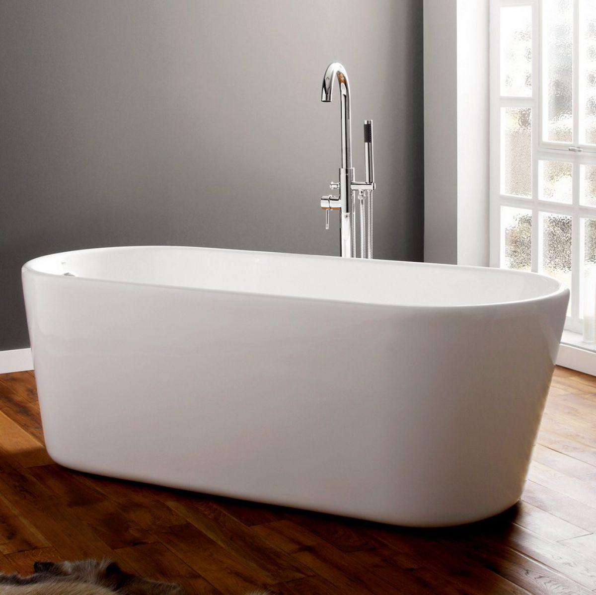 April Brearton Modern Freestanding Bath : UK Bathrooms
