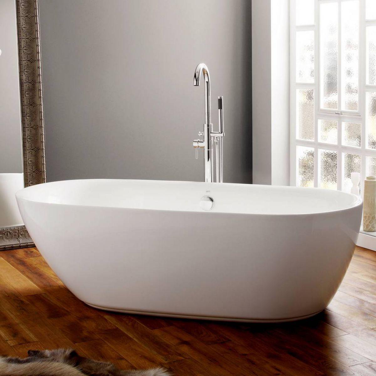 April Cayton Modern Freestanding Oval Bath : UK Bathrooms