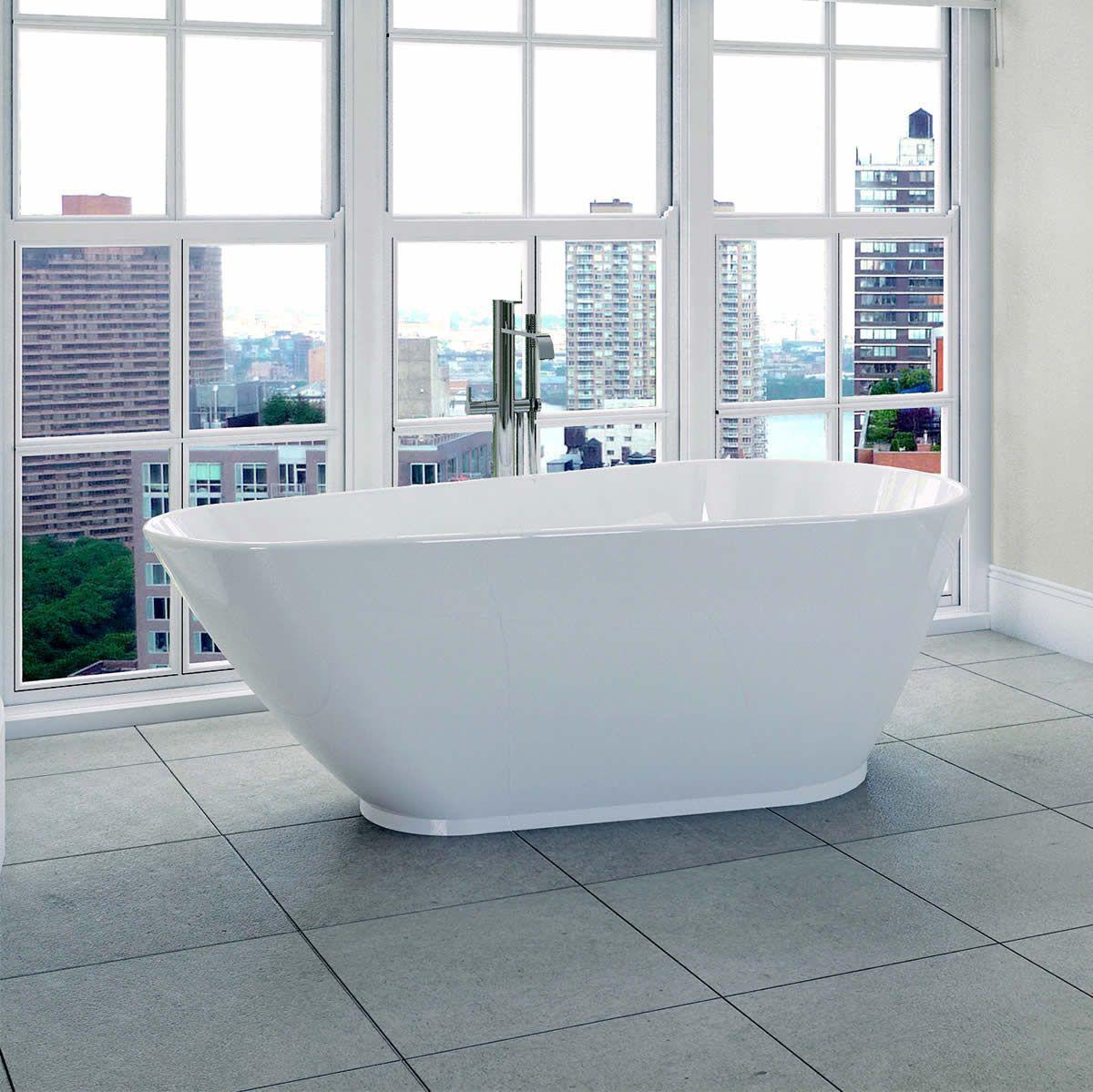April Danby Deep Freestanding Oval Bath : UK Bathrooms