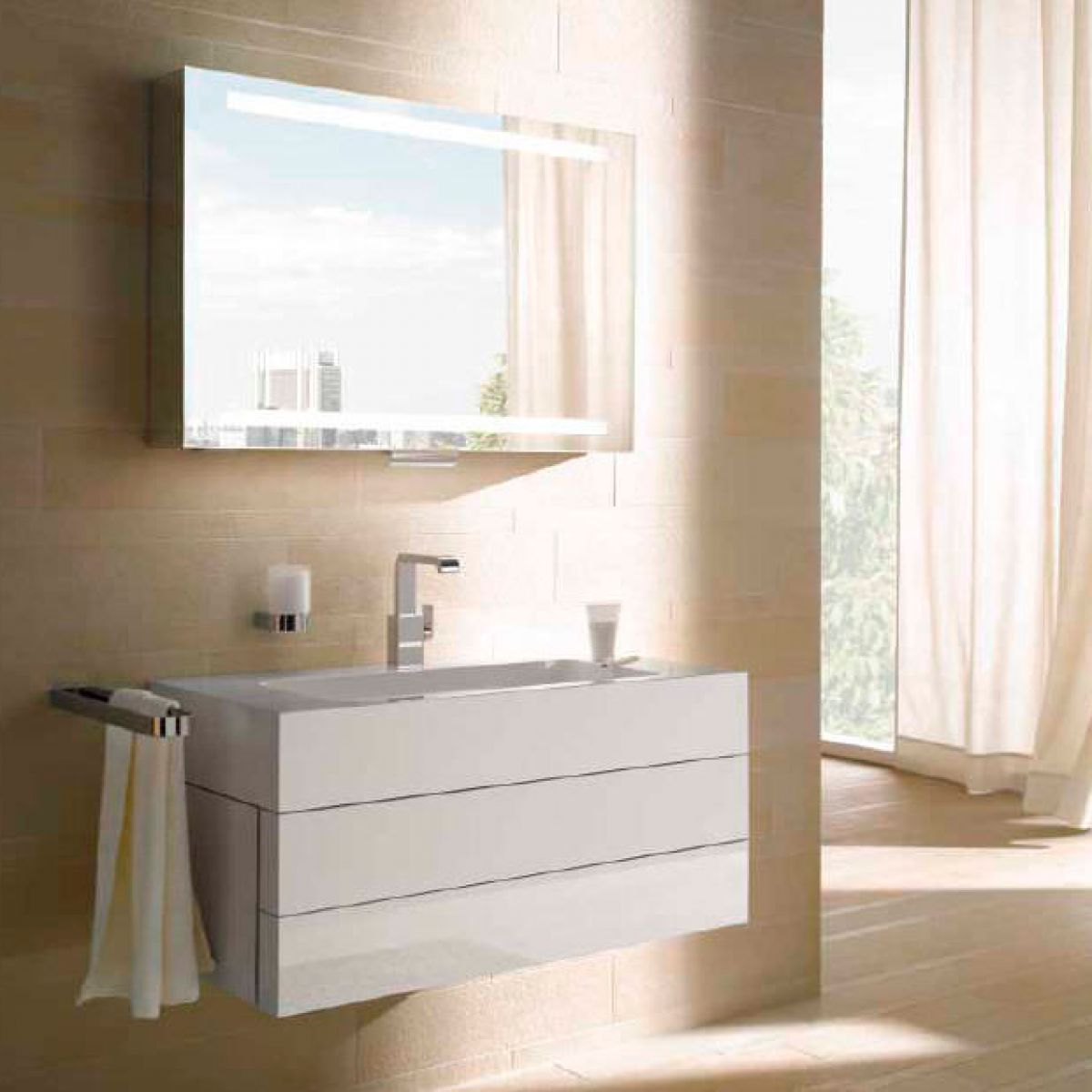 keuco edition 300 mirror cabinet uk bathrooms. Black Bedroom Furniture Sets. Home Design Ideas