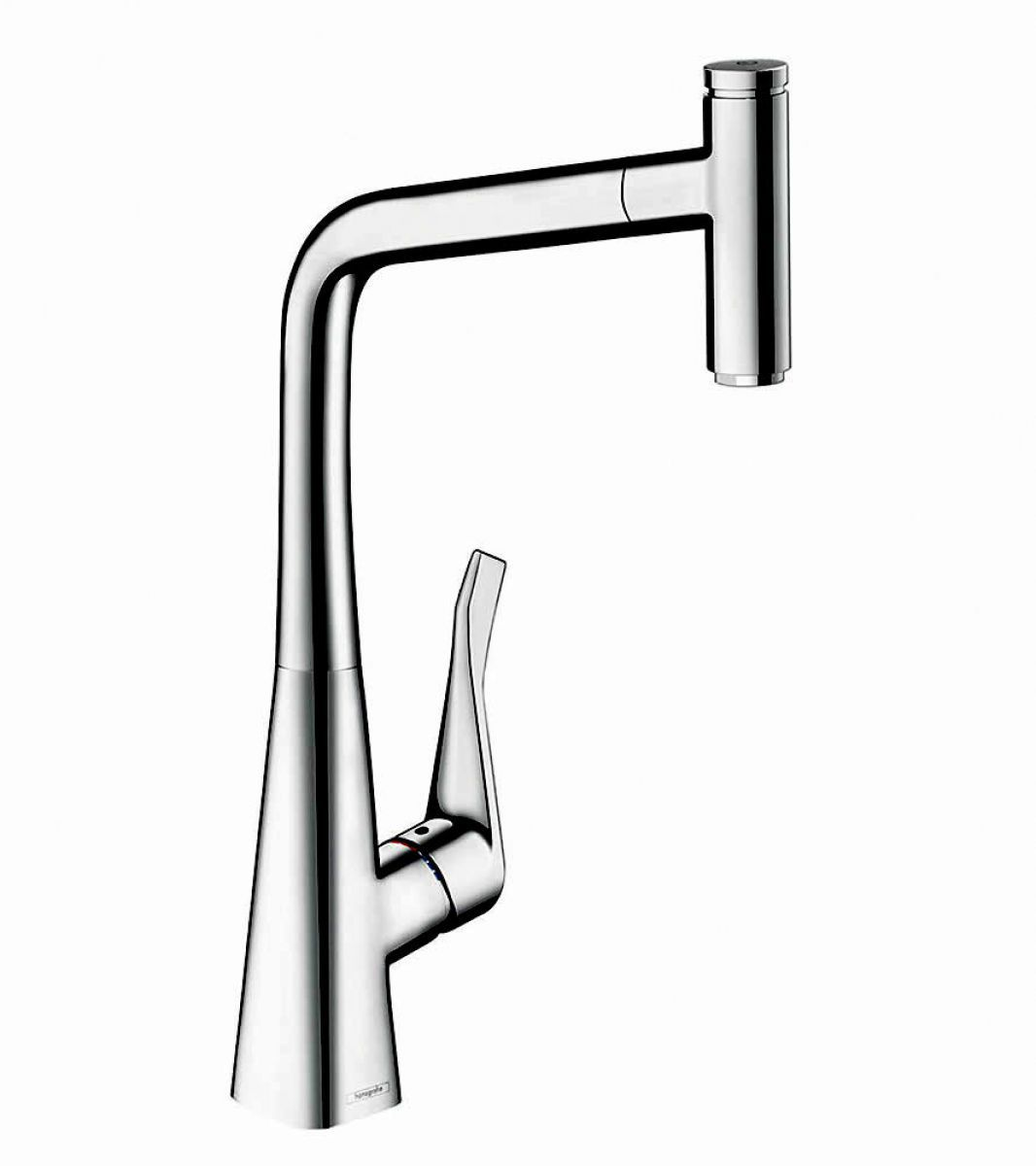 Hansgrohe Metris Select 320 Kitchen Mixer Tap With Pull
