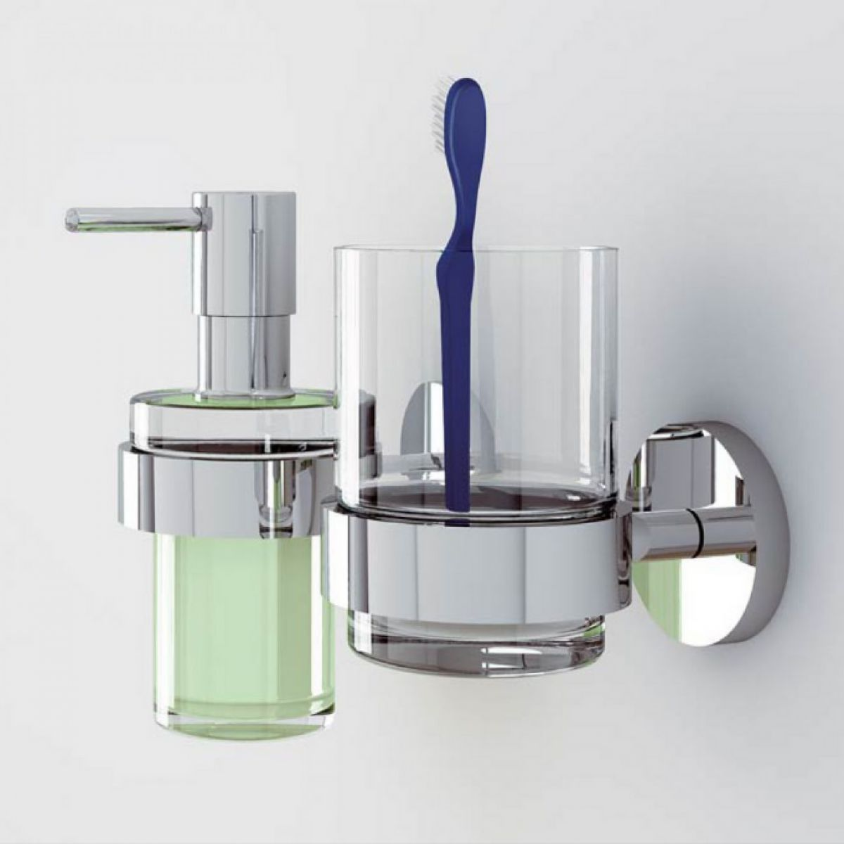 Grohe essentials glass tumbler with holder uk bathrooms for Bathroom accessories grohe