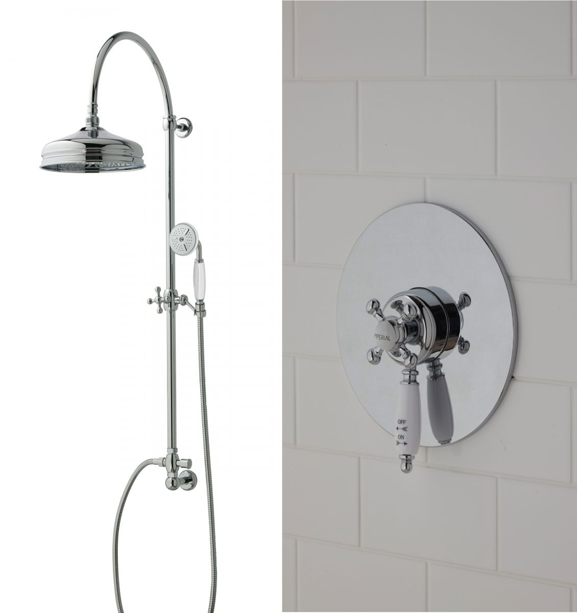 Imperial Westminster Concealed Shower with Edwardian Riser Set and ...