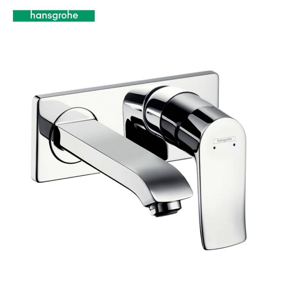 hansgrohe metris wall mounted basin mixer tap uk bathrooms. Black Bedroom Furniture Sets. Home Design Ideas