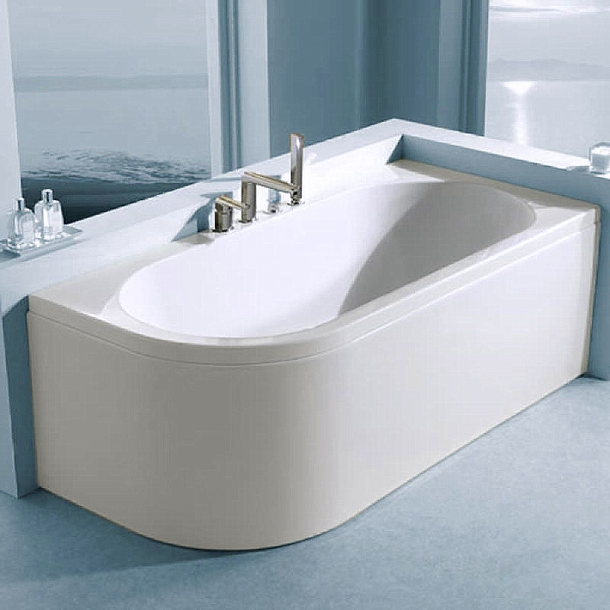 1600 P Shaped Shower Bath Carron Status Duo Offset Curved Bath Uk Bathrooms