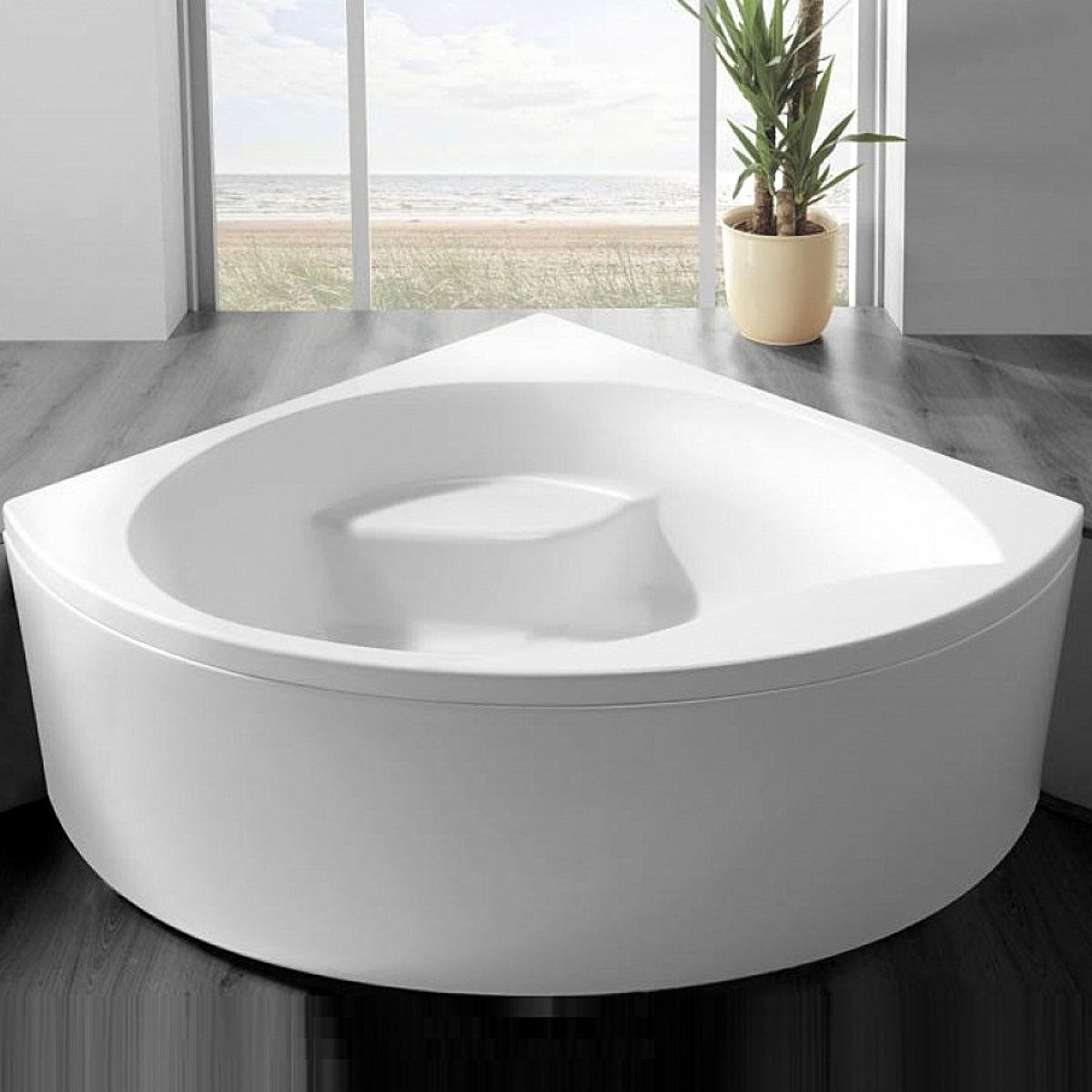 Carron Tranquility 1300 x 1300mm Corner Bath : UK Bathrooms