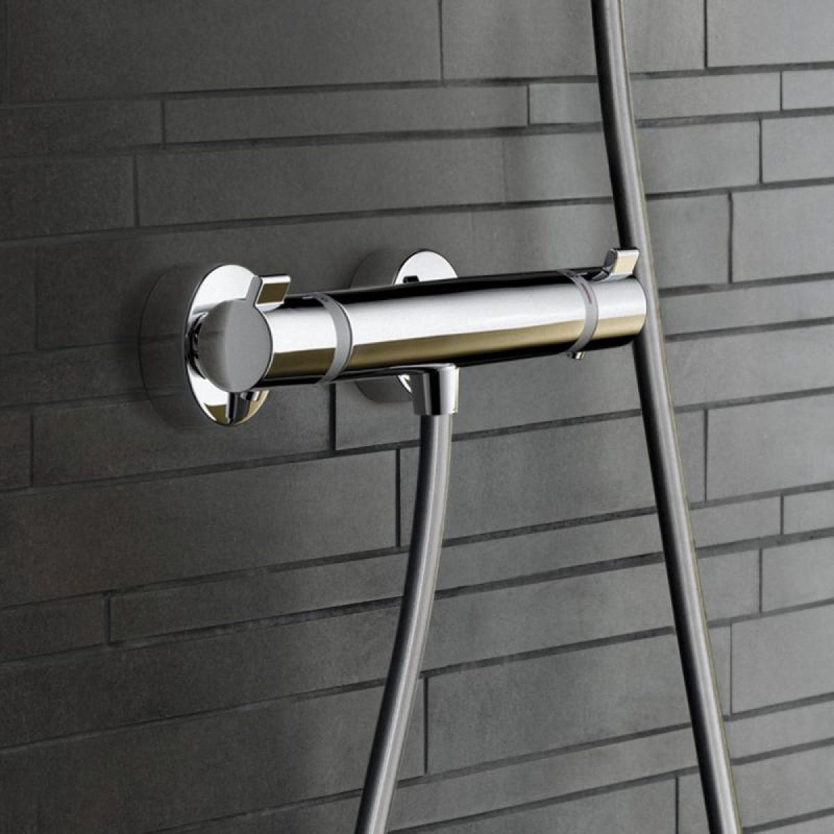 hansgrohe ecostat comfort exposed shower mixer uk bathrooms. Black Bedroom Furniture Sets. Home Design Ideas