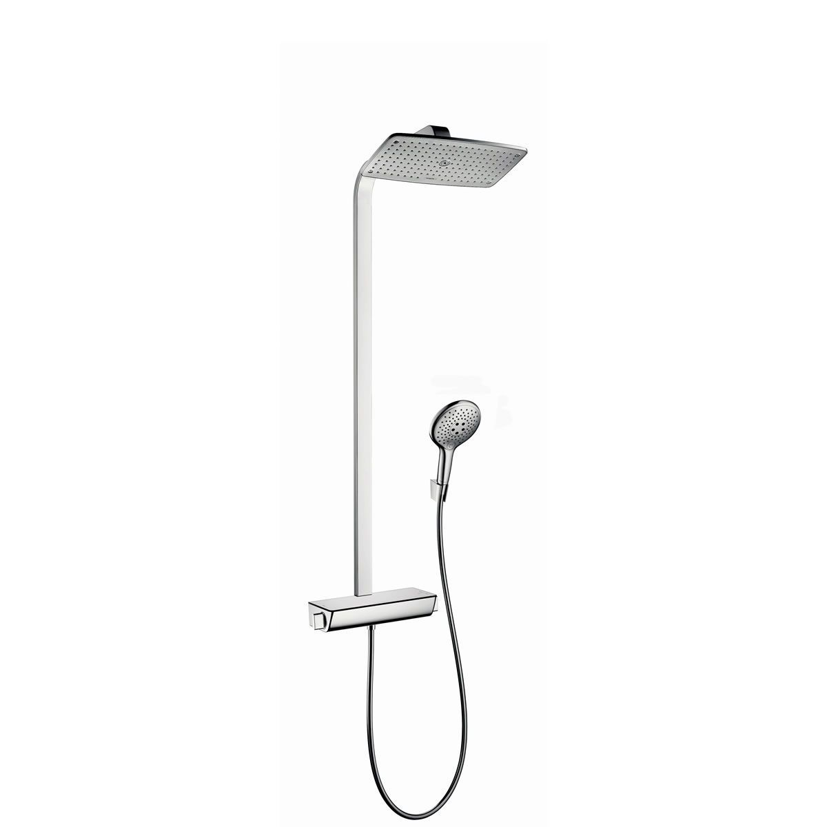 hansgrohe raindance select showerpipe 360 shower system uk bathrooms. Black Bedroom Furniture Sets. Home Design Ideas