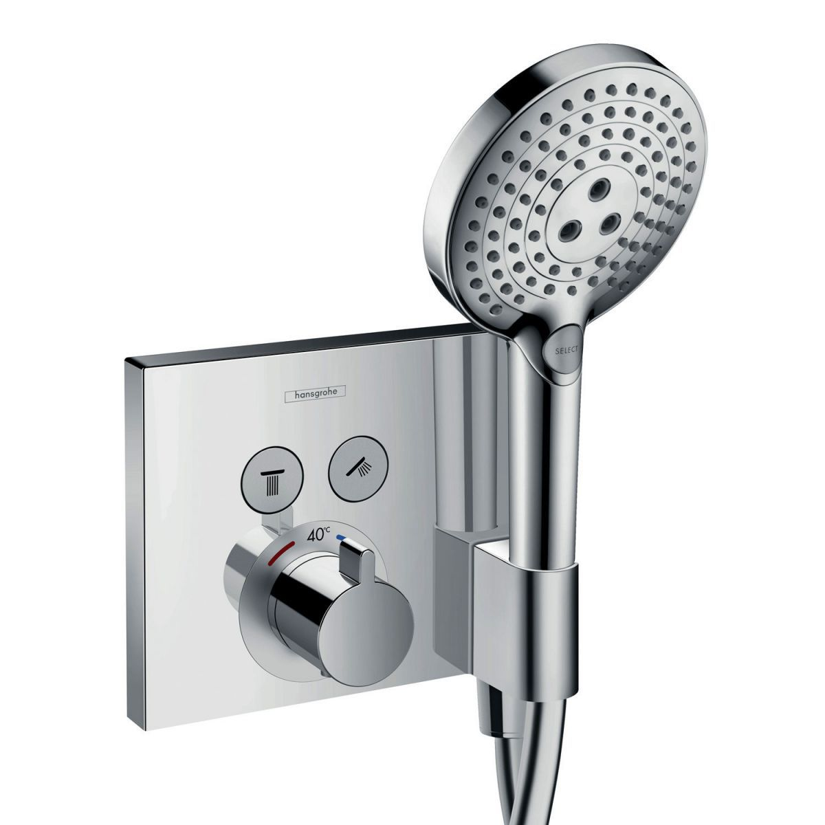 Hansgrohe ShowerSelect Thermostatic Mixer, with 2 Outlets and Porter ...