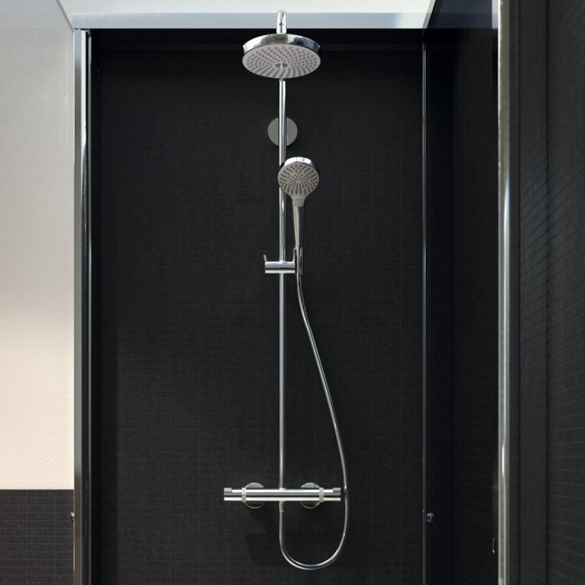 hansgrohe raindance select s 240 1jet showerpipe uk bathrooms. Black Bedroom Furniture Sets. Home Design Ideas