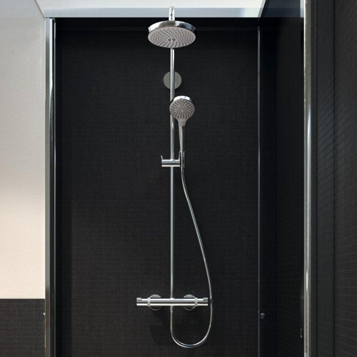 hansgrohe raindance select s 240 1jet showerpipe uk. Black Bedroom Furniture Sets. Home Design Ideas