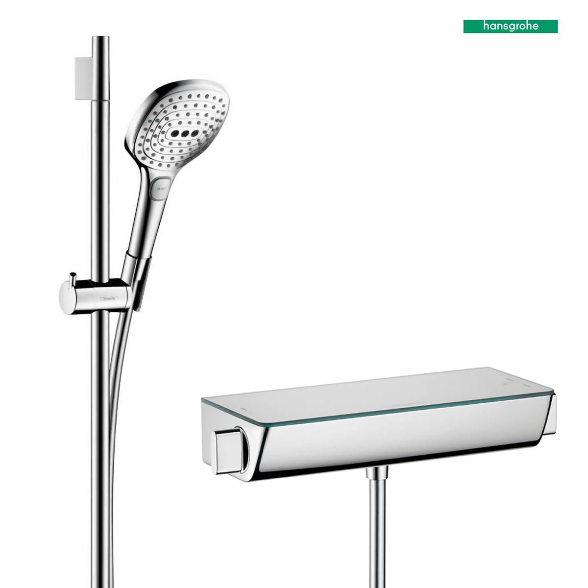 hansgrohe ecostat select with raindance e 120 3jet hand shower uk bathrooms. Black Bedroom Furniture Sets. Home Design Ideas