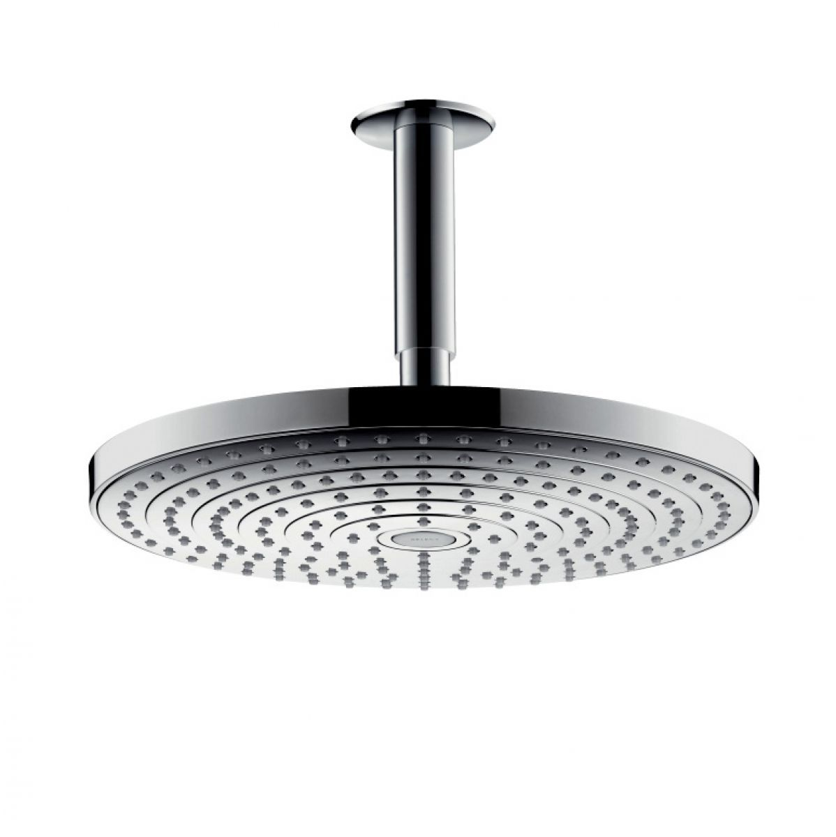 hansgrohe raindance select s 2jet overhead shower with ceiling connector uk bathrooms. Black Bedroom Furniture Sets. Home Design Ideas