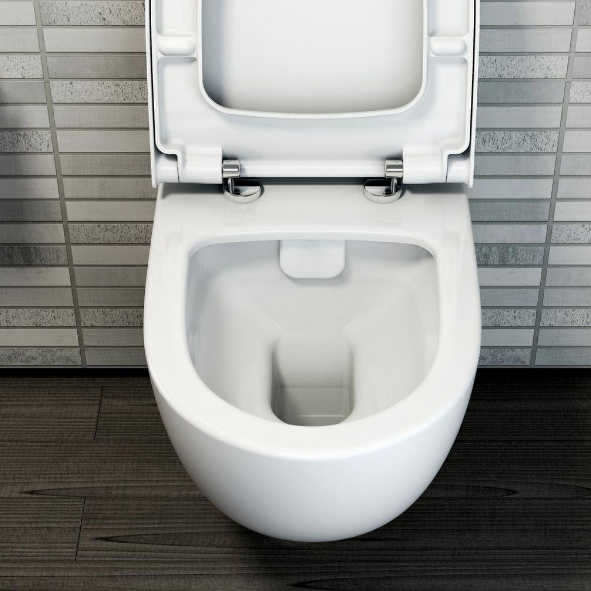 Vitra Sento Compact Wall Hung Toilet Uk Bathrooms