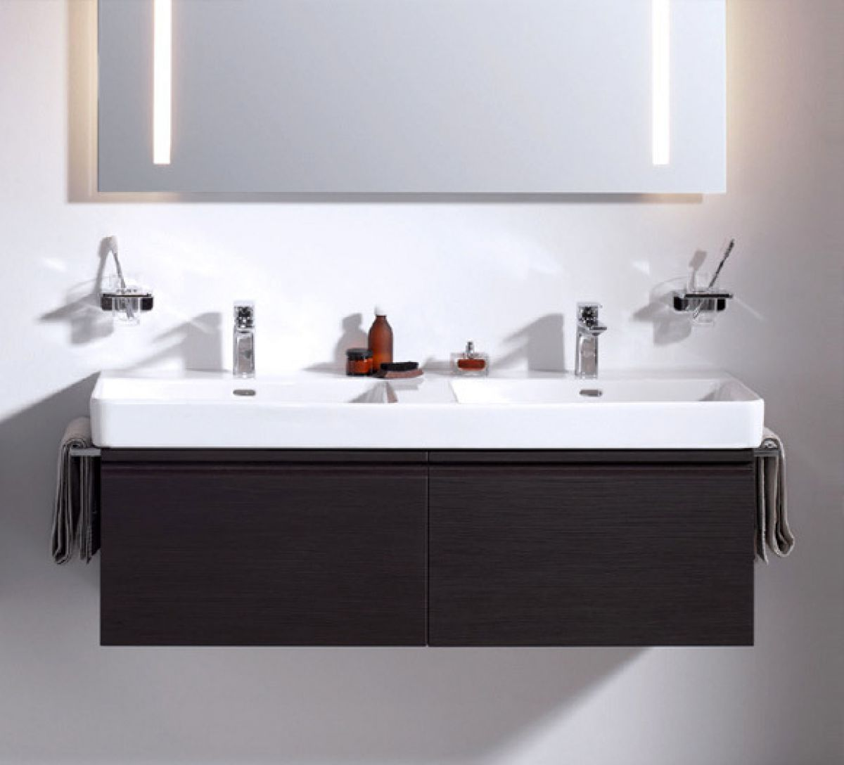 laufen pro s double basin vanity unit with 2 drawers uk. Black Bedroom Furniture Sets. Home Design Ideas