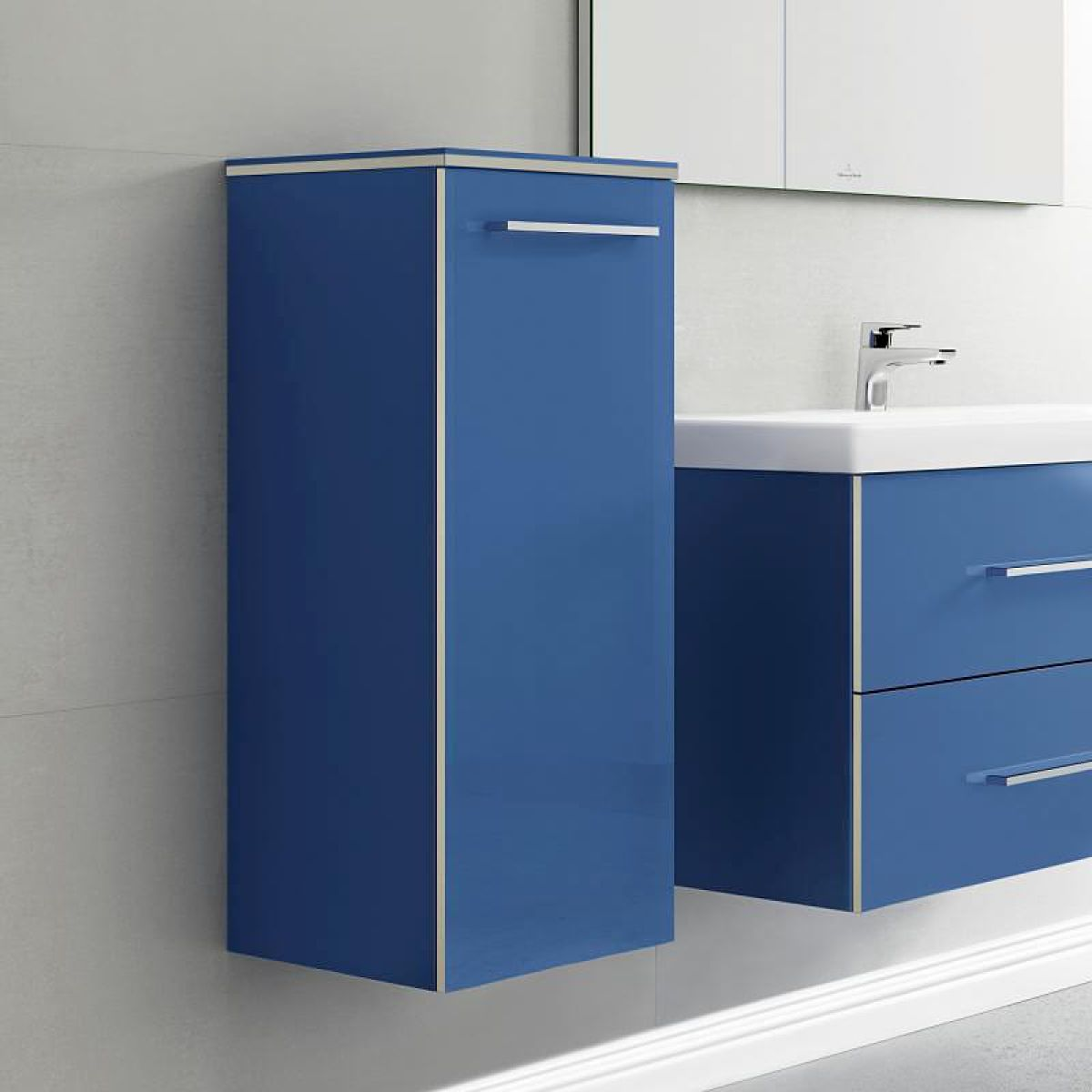 villeroy and boch avento side cabinet uk bathrooms. Black Bedroom Furniture Sets. Home Design Ideas