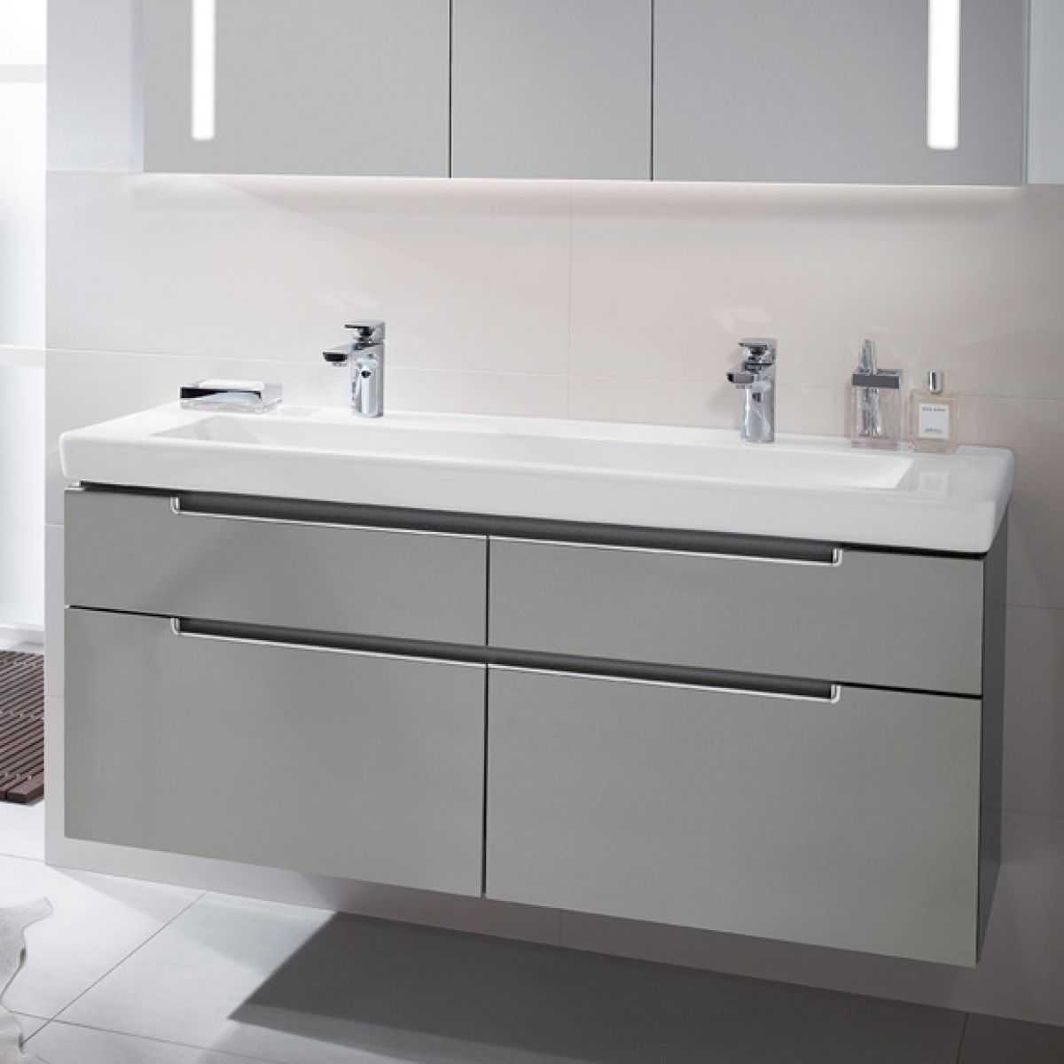 Villeroy and boch subway 2 0 double washbasin vanity unit - Villeroy and boch ...