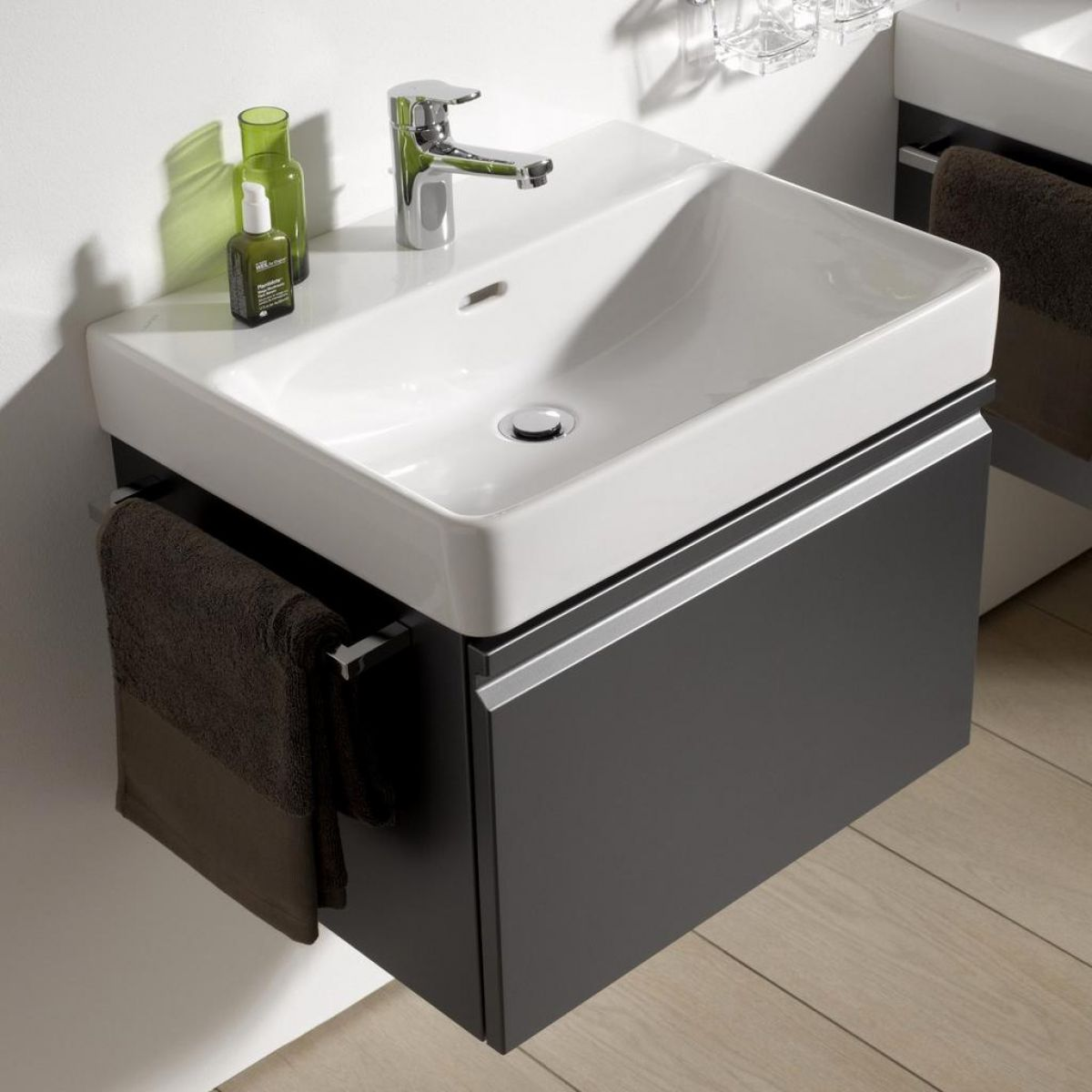 laufen pro s single drawer vanity unit basin uk bathrooms. Black Bedroom Furniture Sets. Home Design Ideas