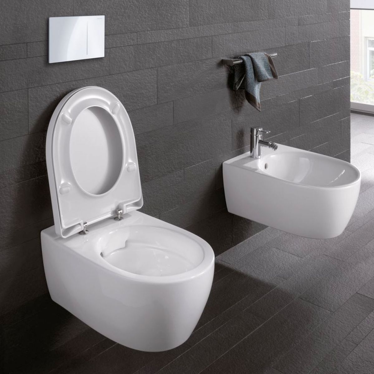geberit icon rimfree wall hung toilet uk bathrooms. Black Bedroom Furniture Sets. Home Design Ideas