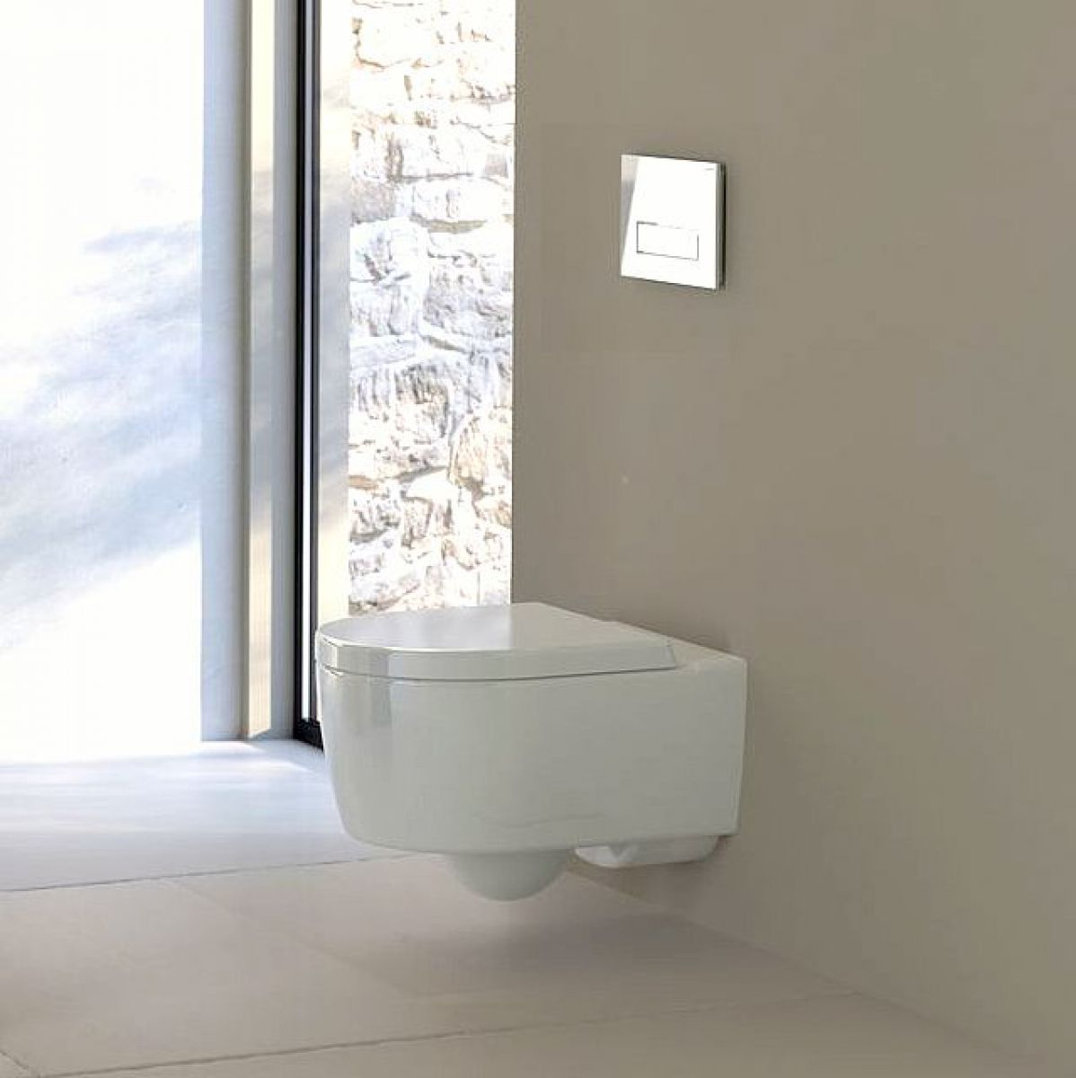 Geberit icon wall hung toilet uk bathrooms for Gerberit toilet