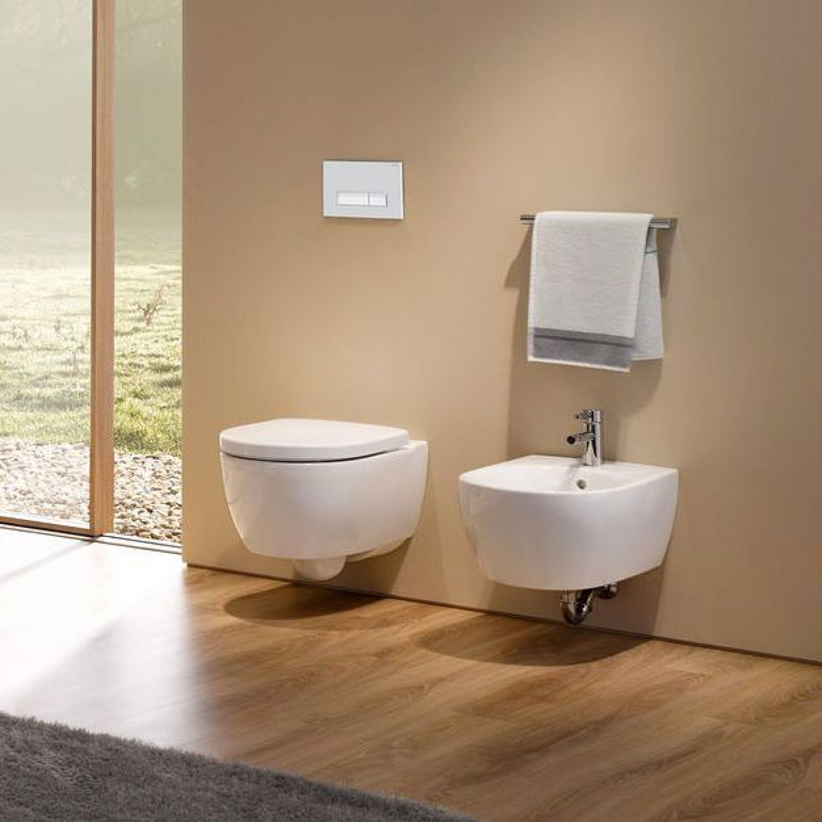 geberit icon short projection rimfree wall hung toilet. Black Bedroom Furniture Sets. Home Design Ideas