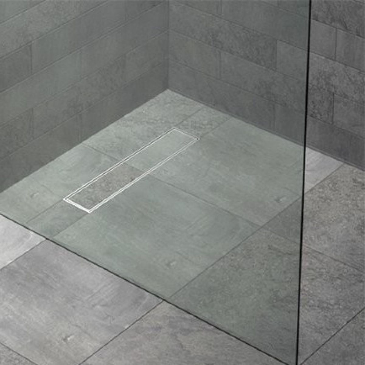 kudos floor4ma wetroom shower base with linear drain uk. Black Bedroom Furniture Sets. Home Design Ideas