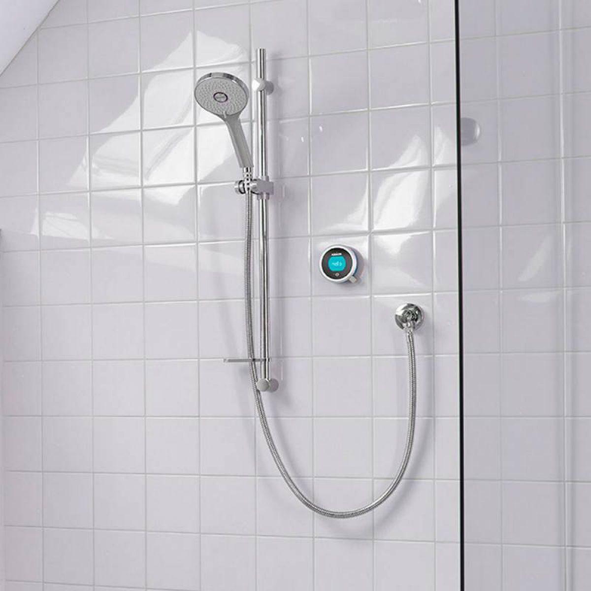 Aqualisa Q Smart Concealed Shower with Slide Rail Kit : UK Bathrooms