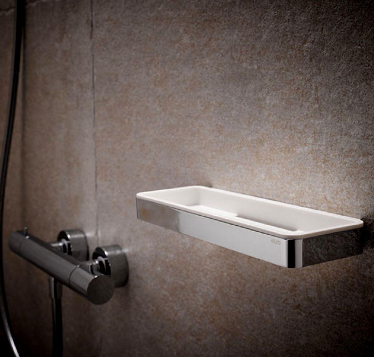 keuco plan shower basket with glass wiper uk bathrooms. Black Bedroom Furniture Sets. Home Design Ideas