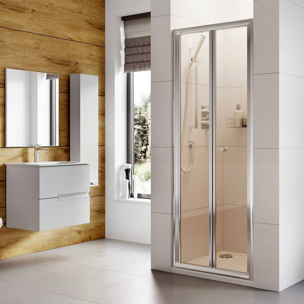 Roman Haven Bi Fold Shower Door