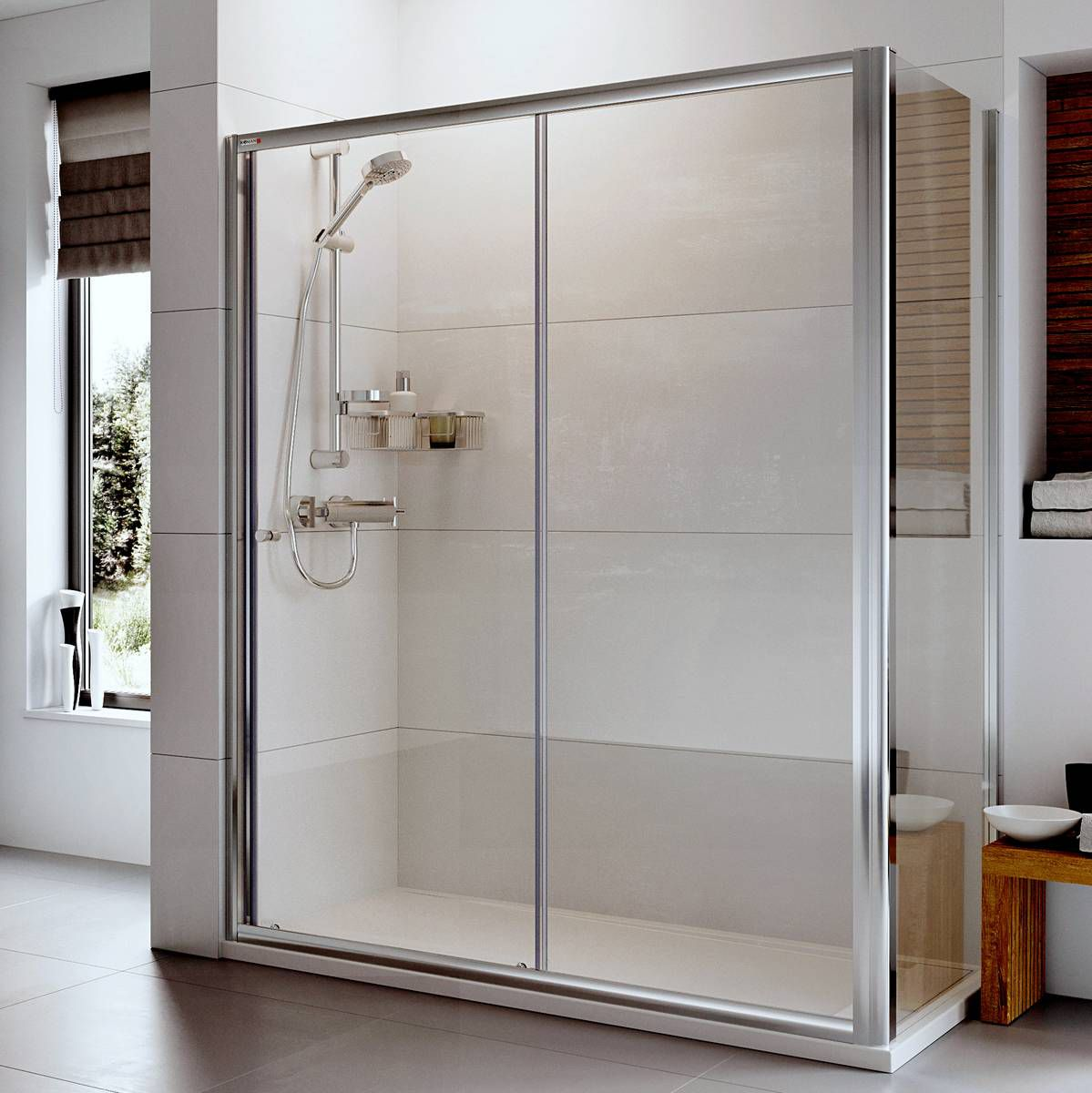 x frameless clear glass in semi door alcove doors with delta sliding portman chrome shower p
