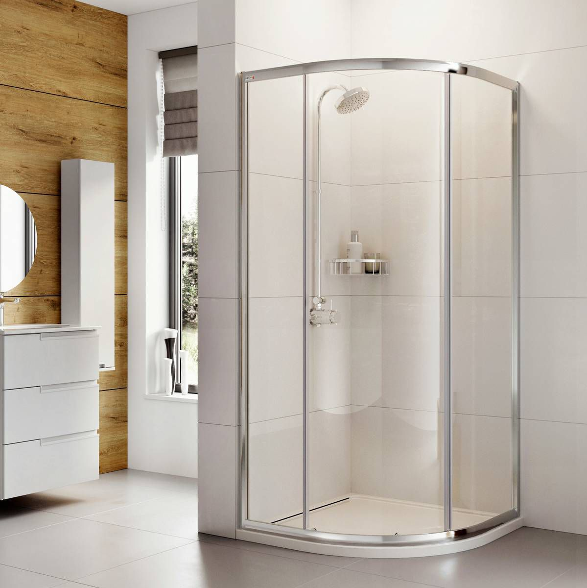 Roman Haven One Door Quadrant Shower Enclosure Uk Bathrooms